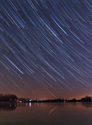Sternenspuren über dem Seerhein