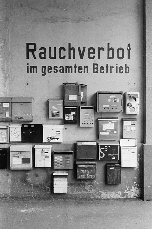 Rauchverbot Briefkästen im Neuwerk, Konstanz