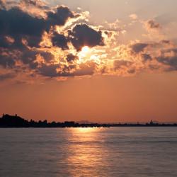 Kurz vor Sonnenuntergang: Aufgenommen mit einem ND3.0 Filter