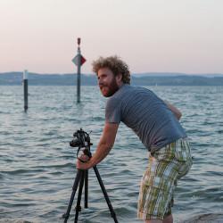 Bei der Arbeit I: Aus dieser Position wurde das erste Bild dieses Beitrags aufgenommen. Das Foto hat Harry gemacht.