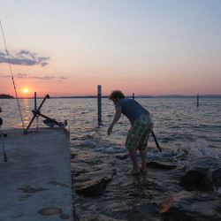 Bei der Arbeit II: Zurück ans Ufer. Dieses Foto wurde ebenfalls von Harry aufgenommen.