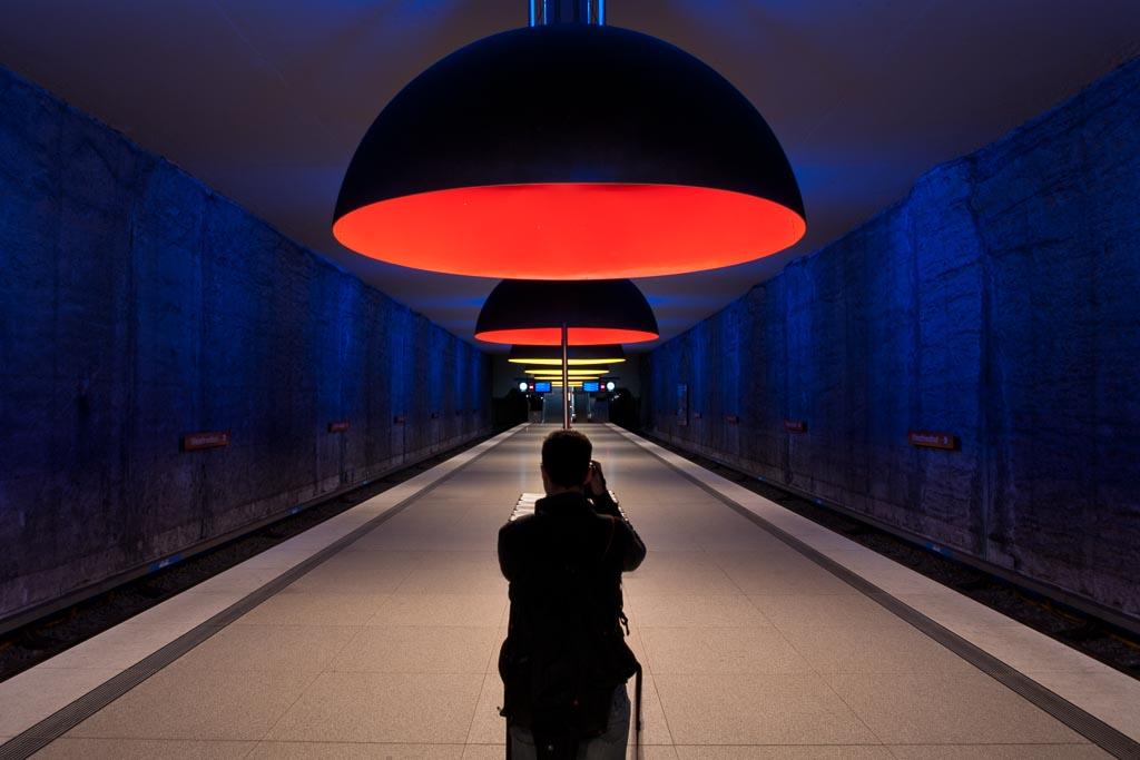 Die Münchener U-Bahnstation Westfriedhof