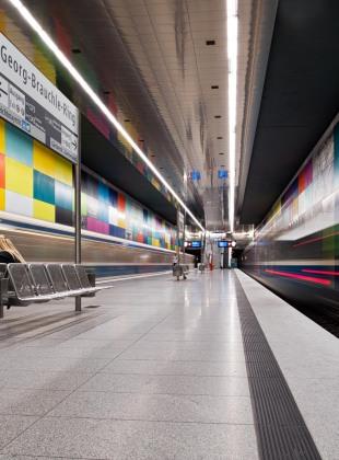Münchener U-Bahnstation Georg-Brauchle-Ring U1