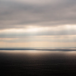 Dramatisches Licht Küste