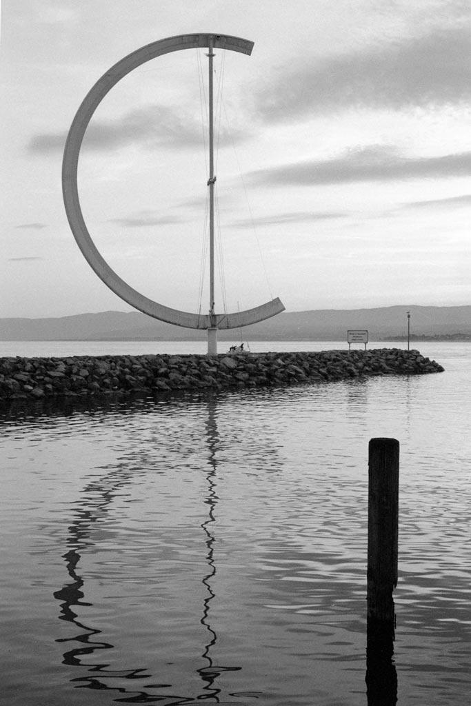 Enfahrt zum Lausanner Hafen