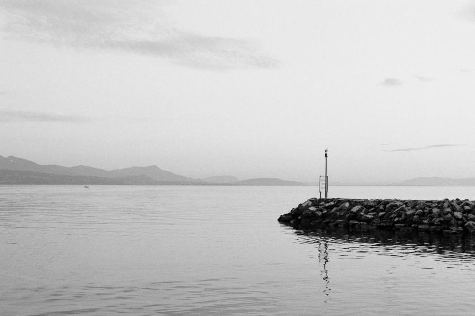 Genfer See Sonnenuntergang