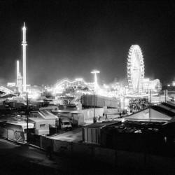 Ausblick auf Oktoberfest 2015 bei Nacht
