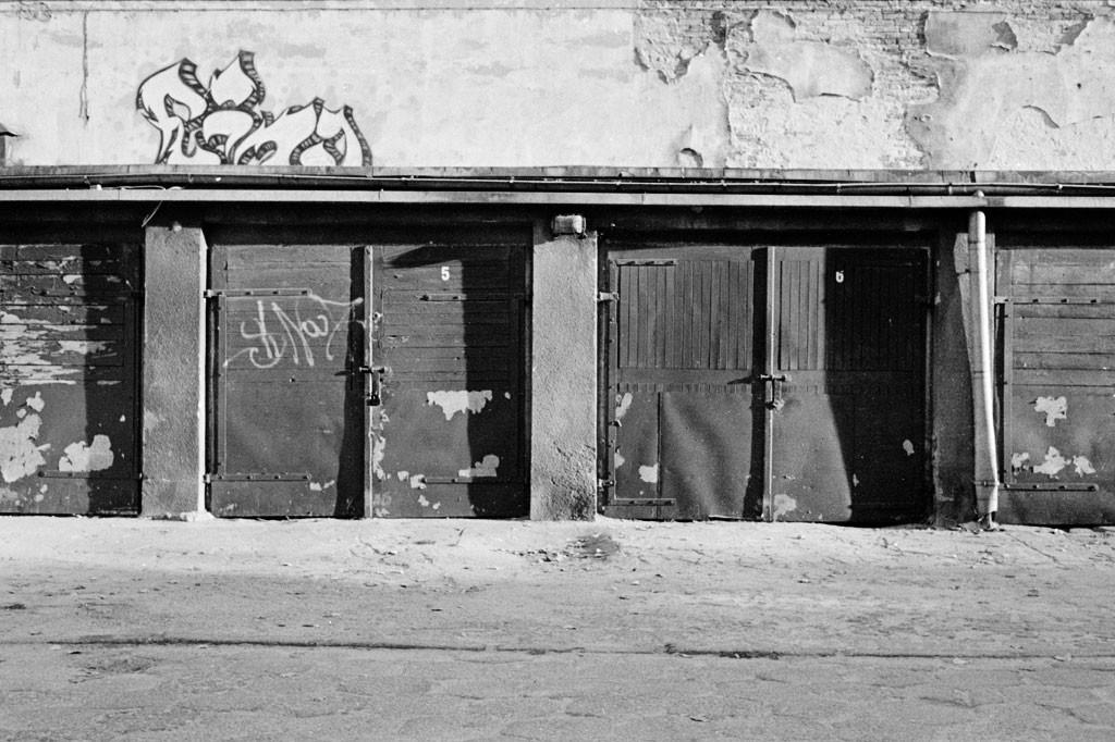 alte Garagen in Lodz