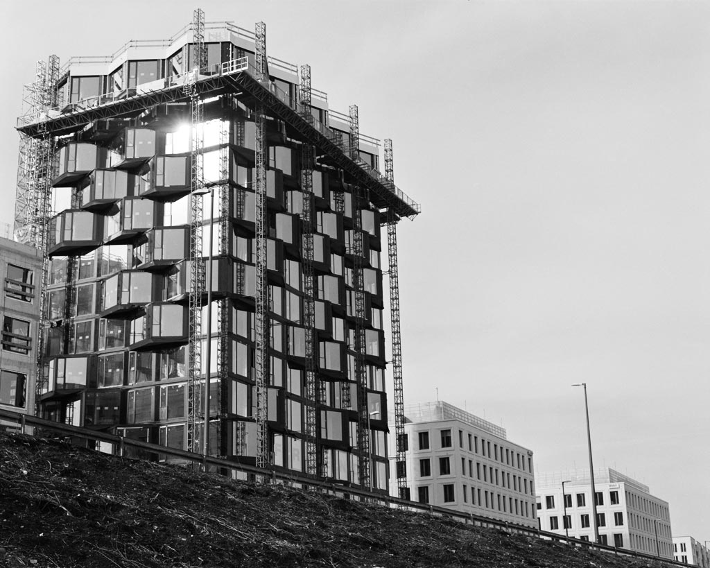 Baustelle an der Friedenheimer Brücke in München