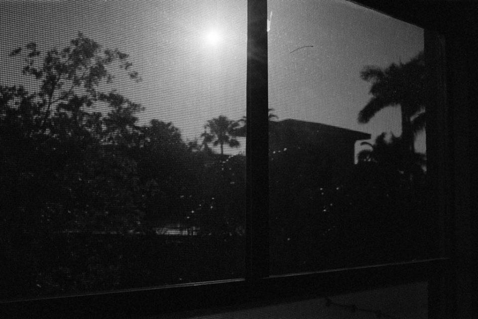 Sonnenuntergang durchs Mosquito-Netz
